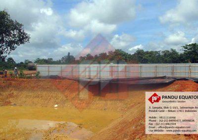 Pemasangan Geomembrane Drill Pond Sumatera Selatan
