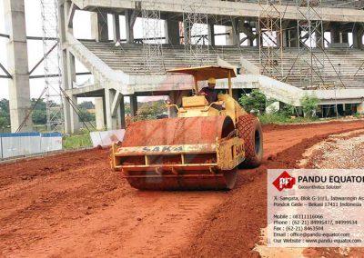 Pemasangan Geopipe pada Stadion Jababeka Cikarang - Bekasi