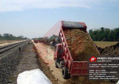 Geocomposite pada jalur kereta api grobogan jawa tengah