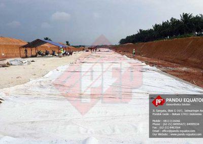 Non Woven Geotextile pada Tol Terbanggi Besar Kayu Agung – Lampung