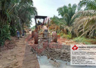 Geogrid untuk jalan perkebunan
