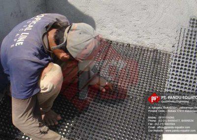 pemasangan drainage cell di hotel