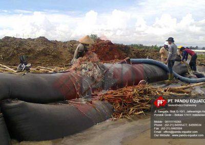 pemasangan geotextile tube sukabumi