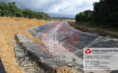 Pemasangan Geomembrane HDPE Untuk Waterway, Malinau – Kalimantan Utara (Tahap 2)
