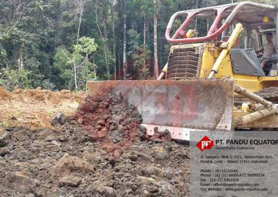 pemasangan non woven geotextile di papua