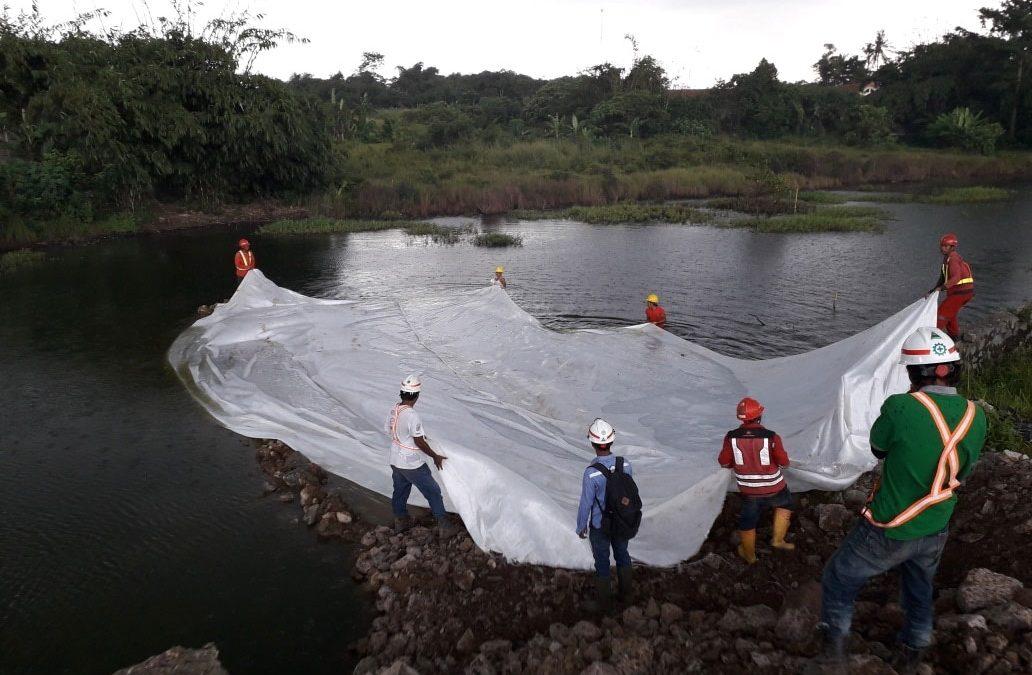 Dokumentasi Pemasangan Geotextile Woven Pada Proyek Jalan Tol Tangerang