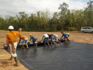 geomembrane hdpe drill pond