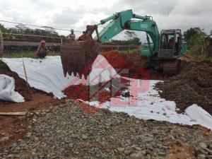 geotextile non woven jalur kereta api