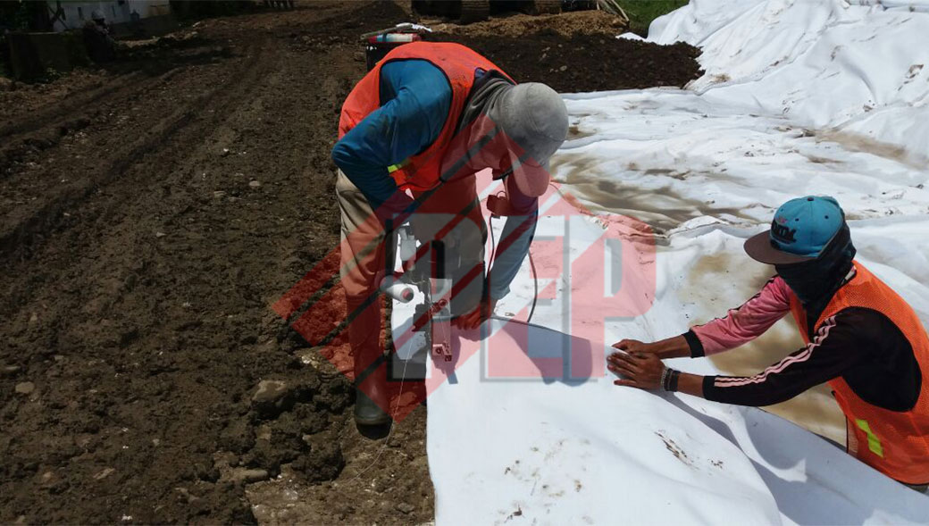 penyambungan geotekstil non woven