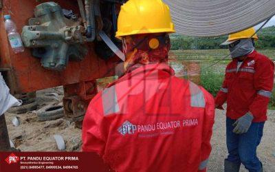 Dokumentasi Pemasangan Prefabricated Vertical Drain (PVD).