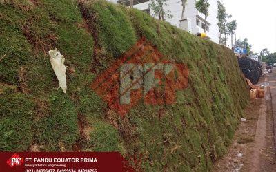 Dokumentasi Pemasangan Geocell Sebagai Dinding Rumput Pembatas Jalan di Kelapa Gading