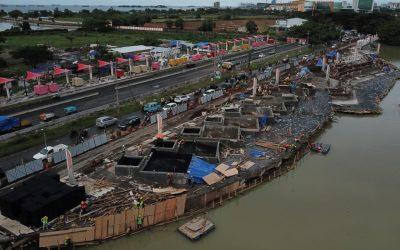 Dokumentasi Pemasangan Drainage Cell & Non Woven Geotextile Pada Proyek Pedsterian Trotoar di Makasar