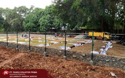 Dokumentasi Pemasangan Non Woven Geotextile, Geogrid, dan HDPE Perforated Pipe Pada Pembangunan Lapangan Berkuda U-Ranch di Jawa Barat