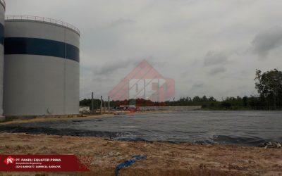 Dokumentasi Pemasangan Geomembrane Pada Proyek Pembuatan Pavement di Kalimantan Tengah