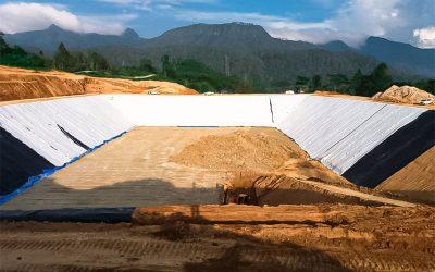 Dokumentasi Pemasangan Geosynthetic Clay Liner, Geonet, dan Geomembrane HDPE