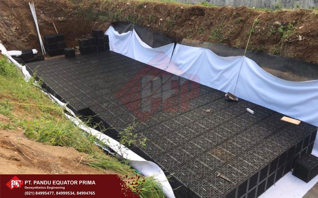 Dokumentasi Pemasangan Modular Tank Sebagai Sumur Resapan Bawah Tanah di Ciawi Jawa Barat